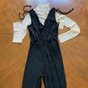 Lulu's Pants - NEW Cupcakes & Cashmere Black Pant Jumpsuit Small